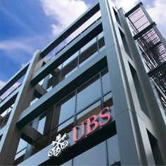 Cutting edge #Architectural #Signage for #UBS