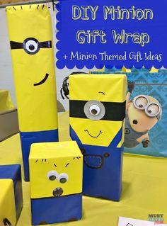 DIY Minion Gift Wrap