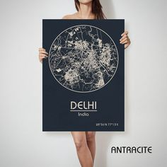 DELHI India map City Street Map Art Print Poster City Graphical Map Wall Art Perfect Gift Home Decor Gift Idea Get a discount on this map! To see all offers, click here: https://www.etsy.com/shop/ArchTravel?ref=hdr_shop_menu&section_id=19169258 ♛COLORS, QUALITY AND DETAILS: ★Impressive High Detailed Map ★Stylish BAUHAUS Design! ★The DEEP RICH COLORS! ★Best quality. Fabulous look! ♛MATERIAL: ★Printing on 100% Natural COTTON CANVAS ★Semi-Gloss CANVAS s...