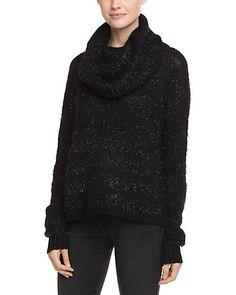 Rue La La — alice + olivia Shelton Black Tinsel Stripe Sweater