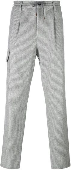 Brunello Cucinelli striped track pants | FARFETCH saved by #ShoppingIS