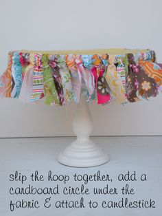 LOVE this cake stand DIY from La Belle Party Planning Everyday Party Magazine web DIY
