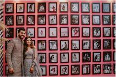 Easy DIY Decor Ideas To Add To Your Intimate Indian Wedding in 2020 Wedding Backdrop Design, Diy Backdrop, Pink Bar, Indian Wedding Photography Poses, Memory Wall, Home Wedding, Wedding Decor, Dream Wedding, Light Images