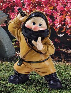 Ninja Gifts for Teen Guys:  Ninja Gnome Lawn Statue @ Amazon