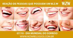 """""""O Sorriso enriquece os recebedores, sem empobrecer os doadores"""" Sorria pois o seu dia ficará muito mais leve e afinal de contas, hoje é sexta-feira! www.wzwrelogios.com.br #WZWRelógios #RelógiosSofisticados #DiaMundialdoSorriso #WorldSmileDay #Sorria #Smile #Alegria #SextaFeira"""