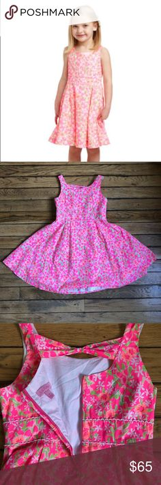 Lily Pulitzer Mini Gosling Dress size 14 girls kid Create magical memories with your Minnie in this fit-and-flare style. Do I see a photo opp in your future? This classic cotton poplin dress is updated with the back bow detail and the vibrant prints are sure to delight. She can match back to you when you wear your Freja Dress like mother, like daughter.  Girls Scoopneck Dress With A Fitted Waist And Full Skirt. Bow Back Detail. Cotton Poplin (100% Cotton). Machine Wash Cold. Imported. Lilly…
