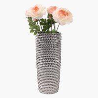 Váza URBAN átm13xma31cm ezüst  4990