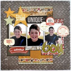 Lots to Share! Maybe a good layout yo use with simple stories awesome range Kids Scrapbook, Scrapbook Paper, Simple Scrapbooking Layouts, School Scrapbook, Scrapbook Sketches, Scrapbook Page Layouts, Picture Layouts, Kids Pages, Multi Photo