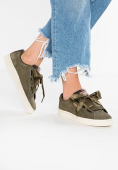 8883ccd0b3b7da BASKET HEART VELVET ROPE - Sneaker low - olive night rose gold whisper white.  Puma ...