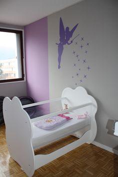 Découvrez le lit bébé Altéa blanc pour une jolie chambre de bébé fille ! #lit #bébé #chambre