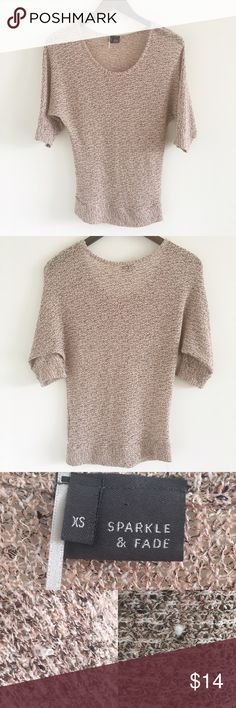 """UO Sparkle & Fade Dolman 3/4 Sleeve Top A great lightweight knit perfect for spring days 💕  Stats (laying flat): Length: 25""""   Width (pit to pit): approx 17""""   Sleeve Length: approx 12.5""""   64% polyester, 36% rayon   body is slightly sheer   Urban Outfitters brand: Sparkle & Fade  Pre-owned condition with some signs of wash & wear, including slight fuzziness & pulls (pictured)   Hand wash cold   No trades Urban Outfitters Tops"""