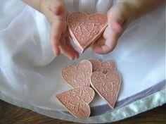 ružové svadobné srdiečko