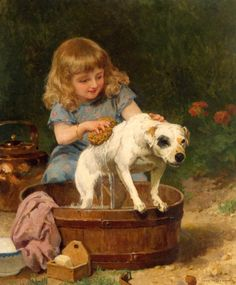 Bath Day Louis Marie de Schryver.