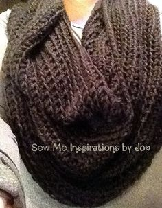 Ribbed Crochet Infinity Cowl One Size by SewMeInspirationbyJo