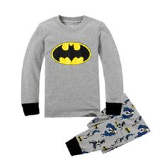 Batman Logo Sleepwear Pajama Set - Top & Pants