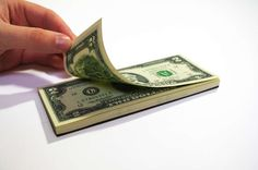 Money tear-off pad.  This is a great idea for gift giving!  My kids would think this was so cool!
