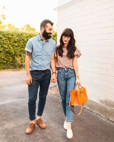 Casual style - striped shirt and denim - casual fashion for men and women - Couples Style New Darlings