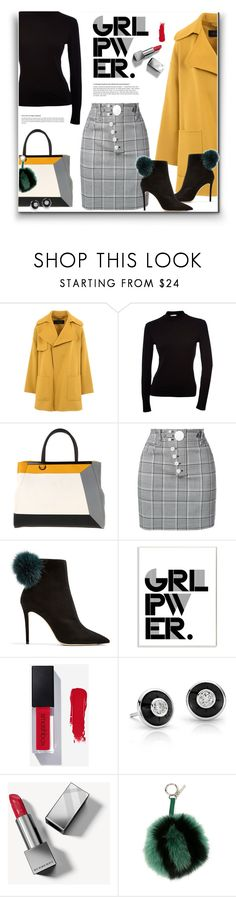 """""""03. Color and Plaid"""" by milva-bg ❤ liked on Polyvore featuring Barbara Bui, Fendi, Alexander Wang, Jimmy Choo, Stupell and Burberry"""