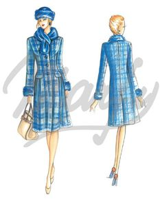 Our Patterns :: Marfy Collection 2014/2015 :: Autumn/Winter :: Sewing Pattern 3481 -