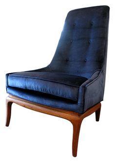 High back lounge chair: $1500