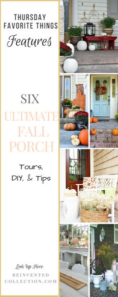 Come see all the fall porch inspiration at the Ultimate Fall Porch Features On Thursday Favorite Things!
