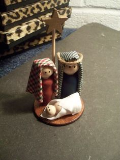 Reserved listing for Holly Four nativities by LeopardLadyJewels