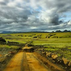 Rent a car, throw away the map and get lost in Iceland. This is the road to Þakgil. Amazing landscape & colors even on a cloudy day!