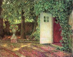 The Athenaeum - The Door among the Leaves (Henri Le Sidaner - No dates listed)