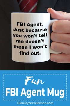 Shopping for gift ideas for office staff? Our FBI Agent mug is the perfect gift for your best work friend, supervisor or family member. Great for many occasions. You can choose between a white and black mug color. They're microwave Personalized Champagne Flutes, Personalized Wine Glasses, Personalized Tumblers, Mother Birthday Gifts, Birthday Gifts For Husband, Best Birthday Gifts, Employee Appreciation Gifts, Employee Gifts, Personalized Office Gifts