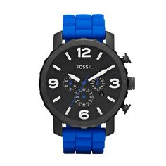 Another awesome Fossil watch that you can find in our stores!  Nate Silicone Watch – Blue JR1426 | FOSSIL®