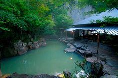You can take a bath here, Kurokawa hot spring village, Oita, Japan