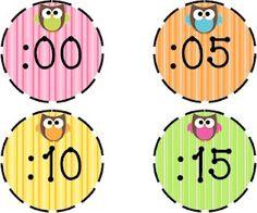 Owl Clock Numbers from Second Grade Discoveries at Teachers Pay Teacher for FREE@ Jenn Classroom Clock, Owl Theme Classroom, Classroom Displays, Kindergarten Math, School Classroom, School Fun, Classroom Ideas, Autism Classroom, School Stuff