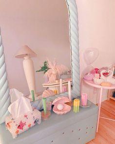 Pastel Decor, Deco Pastel, Cute Room Decor, Cute Room Ideas, Room Ideas Bedroom, Bedroom Decor, Bedroom Inspo, Pastel Bedroom, Pastel Interior