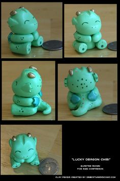 Lucky Dragon Chibi-cute with clay