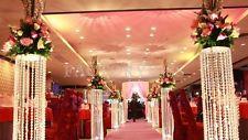 10m Crystal Clear Acrylic Bead Curtains Wedding Hotel Archway Decorations MPF