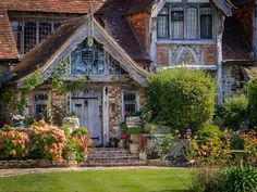 """wanderthewood: """"Tudor Close Hotel in Rottingdean - East Sussex, England by Bob Radlinski """" Magical Forest, Forest Fairy, Cow Shed, Europe, Tudor Style, Public Garden, Old Barns, East Sussex, Back Gardens"""
