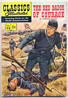 CLASSICS ILLUSTRATED #98 1st P. VG, Red Badge of Courage, Comics