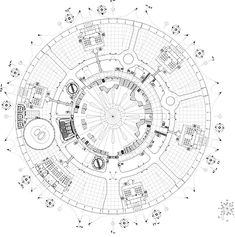 Circular floor plan for the Greenwich, England dome.