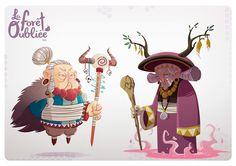 La Forêt Oubliée Characters on Behance Character Design Cartoon, Character Design Animation, Character Design References, Character Design Inspiration, Game Character, Character Concept, Concept Art, Color Inspiration, Cute Illustration