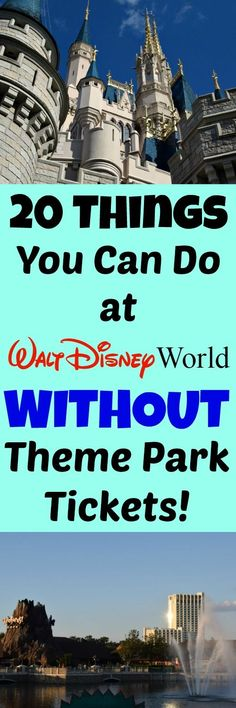 Here's 20 fun, cool, and awesome things you can do at Walt Disney World without park tickets- and they all have a shining stamp of approval from us!