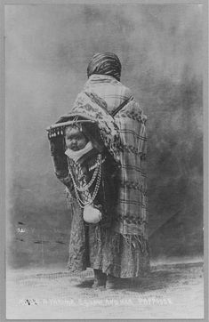 Yakama Squaw with Her Papoose (Carpenter Collection - Library of Congress)