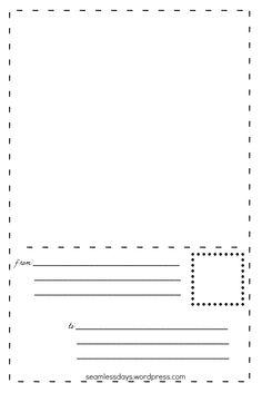 postales para pequeños artistas: «Libre para imprimir   carta
