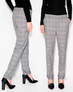 Doña Letizia debuted the Mango 'Kennedy' Prince of Wales suit trousers (US$59.99). The black check pants feature a zip and hook fastening, belt loops, twin side pockets, twin decorative welt pockets on the back and rolled-up hems. Queen Letizia attends the opening of vocational training course 2017/2018 at the Segundo de Chomon Secondary School in Teruel. 27 September 2017
