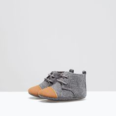 Image 1 of COMBINED FABRIC BOOTS from Zara