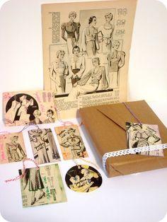 Etiquettes mode des années 30. DIY sur www.tadaam.fr