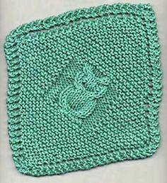 Owl Dishcloth Knitting Pattern