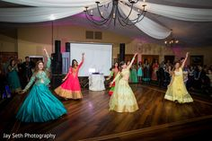 Upbeat indian bride's dance performance. in Stroudsburg, PA Indian Fusion Wedding by Jay Seth Photography
