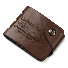 Cheap mini men wallet, Buy Quality men wallet small directly from China men wallets Suppliers: Mini Men Wallet Small Purses Card Holders Cowboy Style Magnetic Buckle Classic Wallet for Dollars Short Purse Billetera Hombre Famous Letters, Cuir Vintage, Vintage Men, Cute Wallets, Brown Wallet, Money Clip Wallet, Letter Patterns, Pocket Cards, Small Wallet