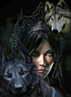 Wolf Images, Wolf Photos, Wolf Pictures, Fantasy Wolf, Fantasy Art Women, Native American Wolf, Wolves And Women, Gothic Images, Wolf Spirit Animal