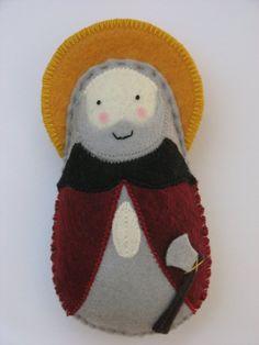 Saint Owen of Lichfield...Felt Softie by SaintlySilver on Etsy, $18.00